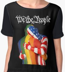 We The People (to print on dark colors) Women's Chiffon Top