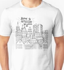 Home is anywhere - Black and White T-Shirt