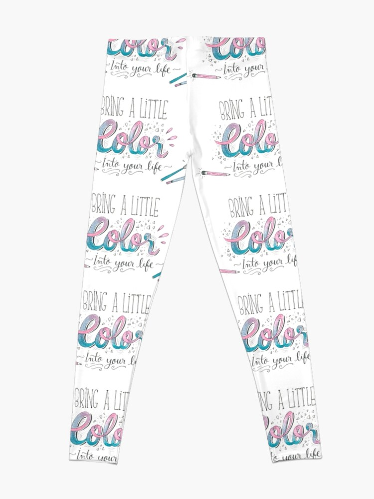 Alternate view of Bring a little color into your life Leggings