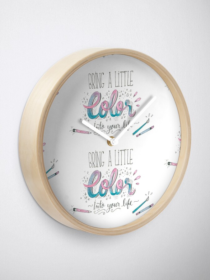 Alternate view of Bring a little color into your life Clock