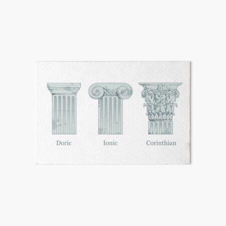 Column Orders - Slate Art Board Print
