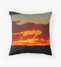 July Sunset #3 Throw Pillow