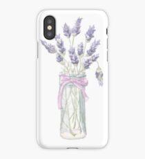 Lavender in a jar iPhone Case/Skin
