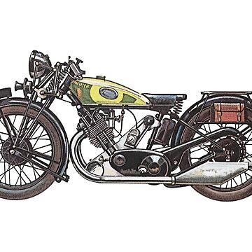 1932 Panther Redwing Motorcycle by surgedesigns