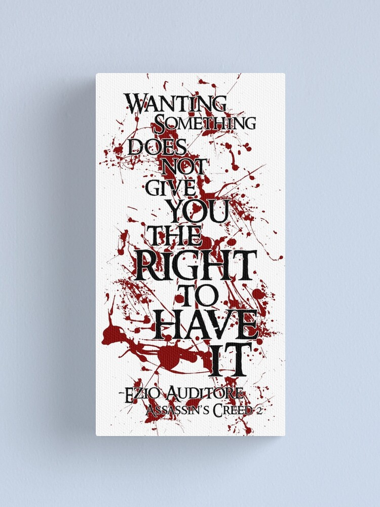 Ezio Auditore Quote Canvas Print
