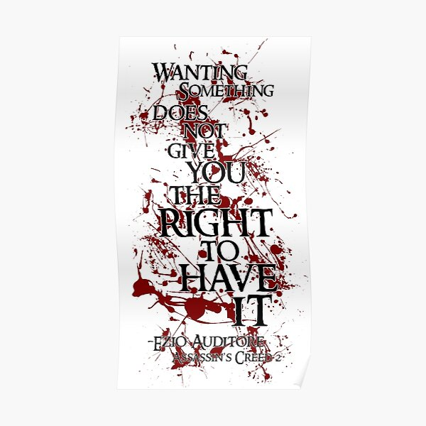 Assassins Creed Quotes Gifts Merchandise Redbubble