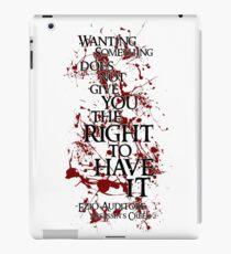 Ezio Auditore Quote iPad Case/Skin