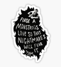 Monstrous Love Sticker