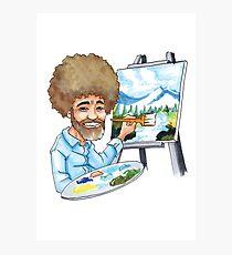 The Happy Painter Photographic Print