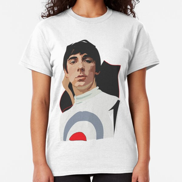 British Flag Black-Ladies-Small-New Roger Daltrey The Who T Shirt