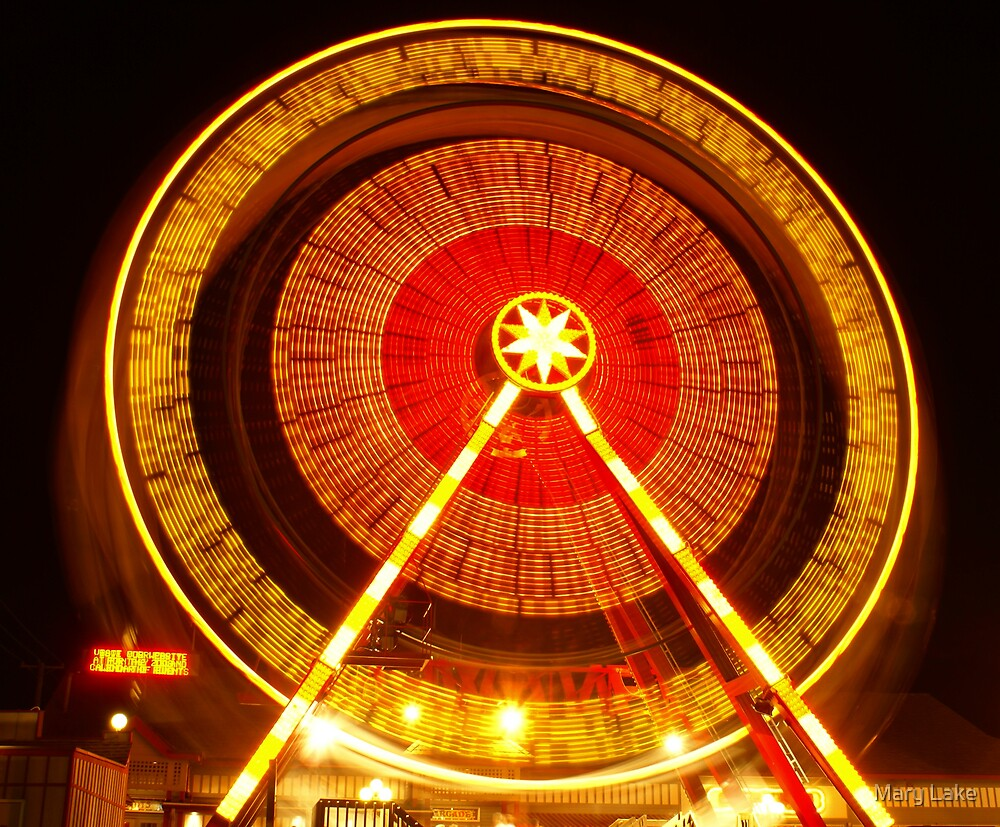 Ferris Wheel in Motion by Mary Lake