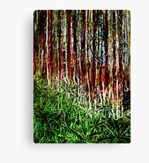 Rainforest - Collagraph/Relief Print Canvas Print