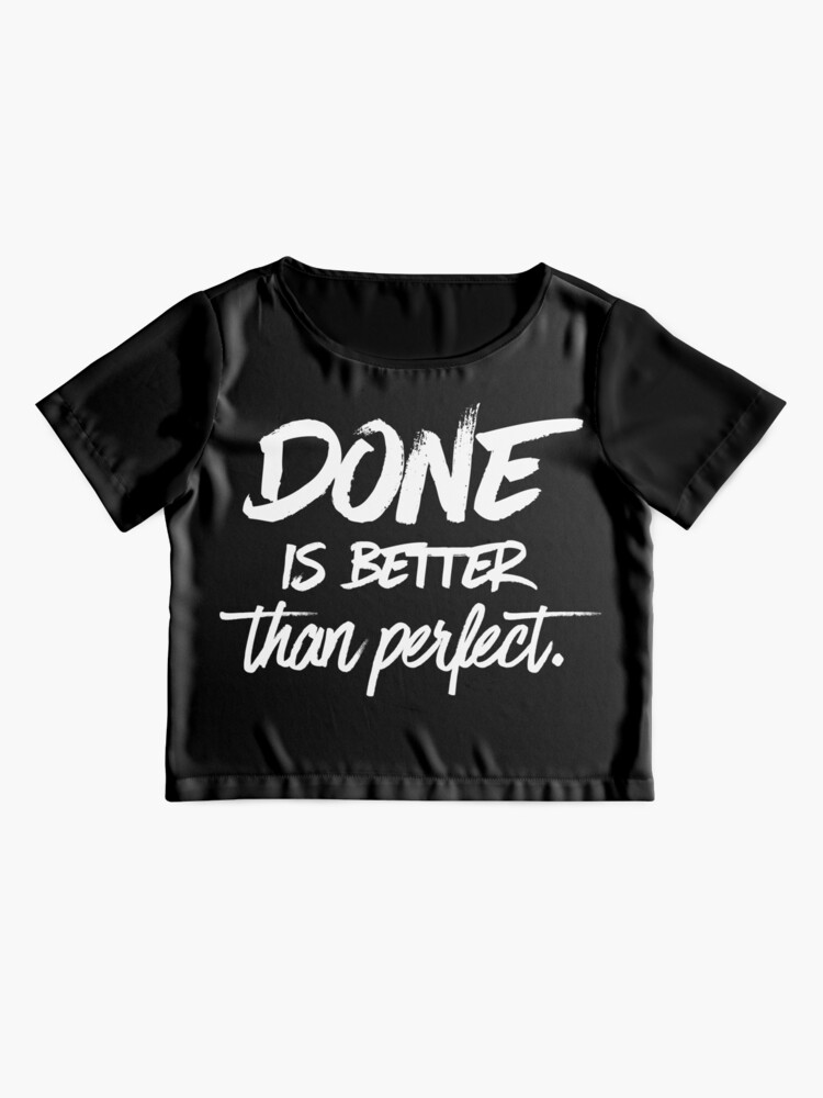 Alternate view of Done is better than perfect - Black Chiffon Top