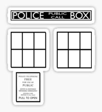 Simplified Police Box Sticker