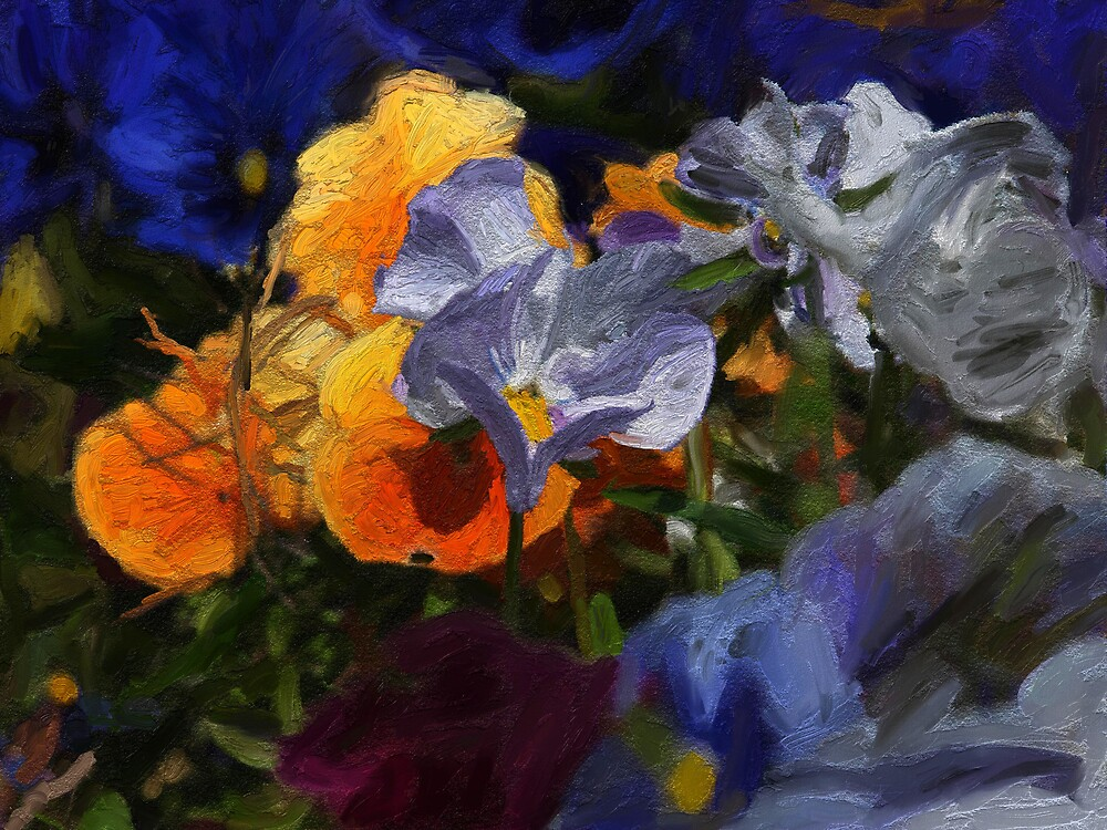 Garden at Giverny 2 by Alan Findlater