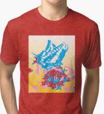Butterflies are flying flowers Tri-blend T-Shirt