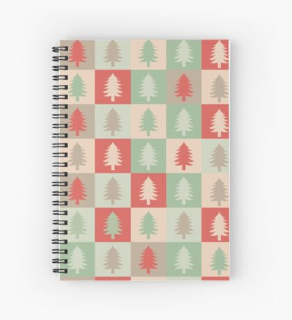 AFE Holiday Tree Pattern Spiral Notebook