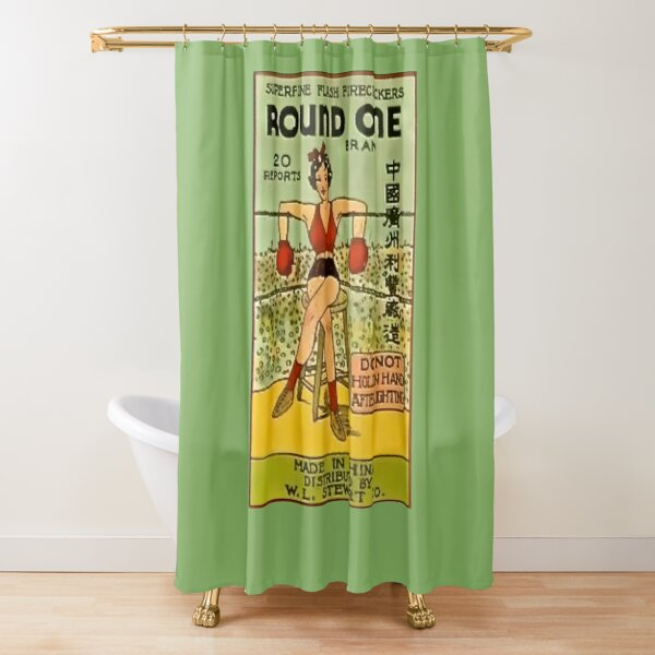 Round One For This Firecracker Shower Curtain