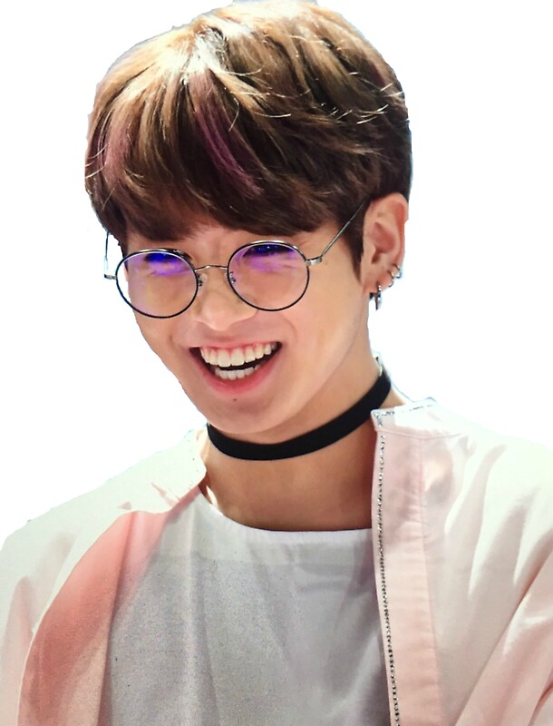 Quot Jungkook Glasses Smiling Quot Stickers By Jahnvi Modi
