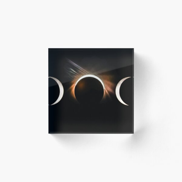 phases of the solar eclipse 2017 Acrylic Block