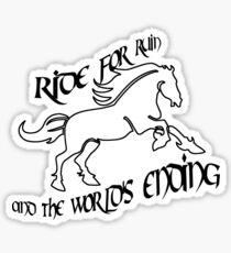 Ride for Ruin Sticker