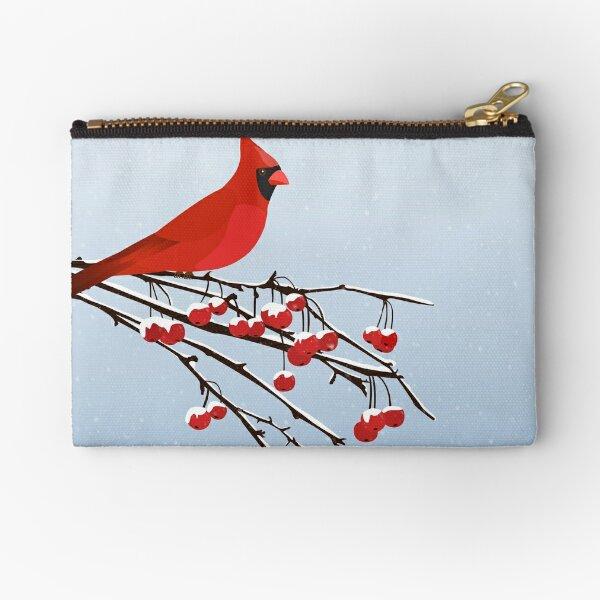 AFE Red Cardinal Zipper Pouch