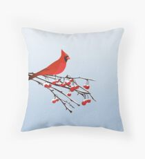 AFE Red Cardinal Throw Pillow