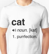 Funny Cat Definition. Purrfection T-Shirt