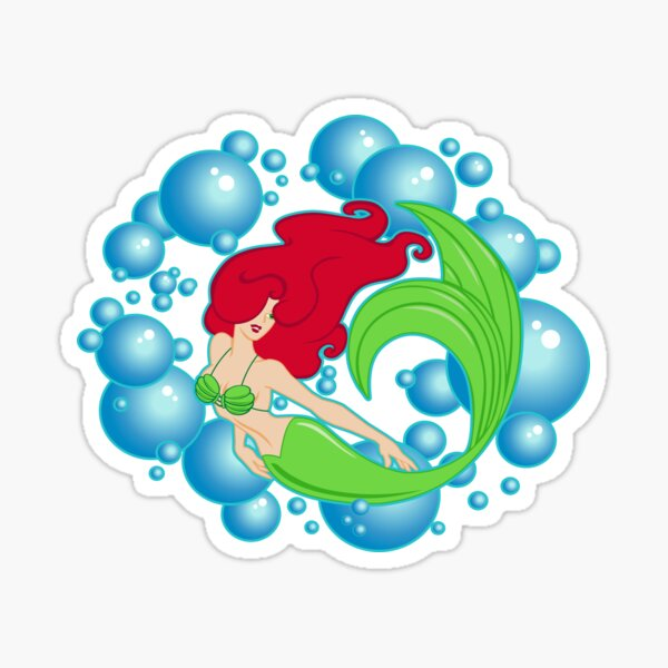 Mermaid Bubbles Sticker