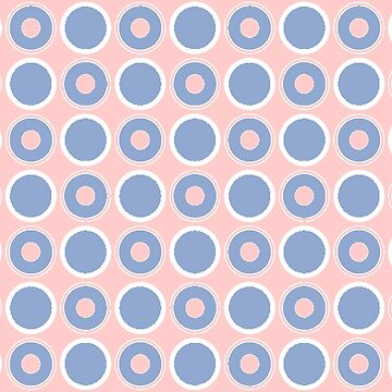 Pantone Colour of the Year 2016 Serenity/ Rose Quartz/ Circles by ozcushions