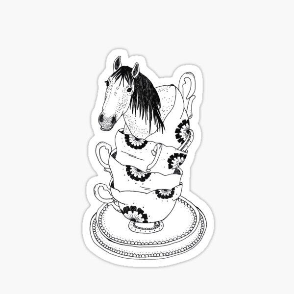 Teacup Horse by Ashley Fiona Pegatina