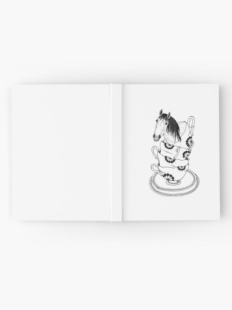 Alternative Ansicht von Teetasse-Pferd durch Ashley Fiona Notizbuch