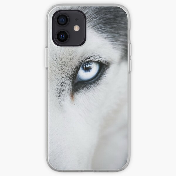 Husky with icy blue eyes iPhone Soft Case