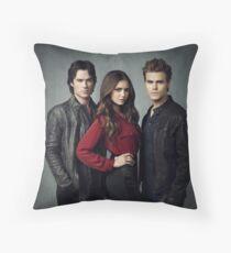 Elena, Damon and Stefan - The Vampire Diaries - Season 4 - Promotional Poster  Throw Pillow