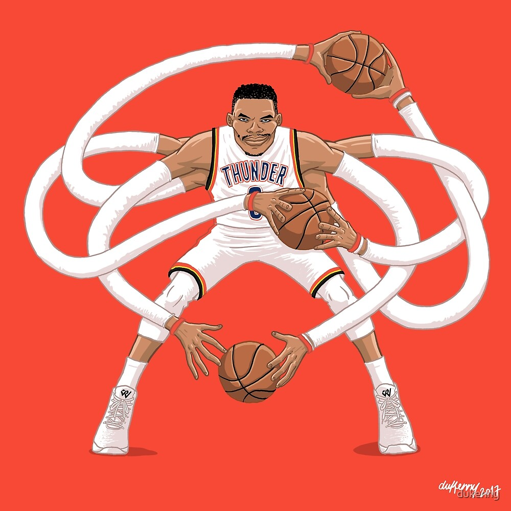 Mr. Triple Double Westbrook  by dukenny