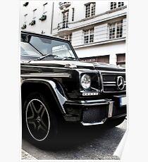 Black Mercedes G-Class Poster