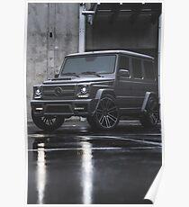 Gray Mercedes G-Class Poster