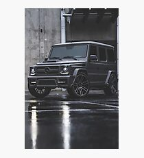 Grey Mercedes G-Class  Photographic Print