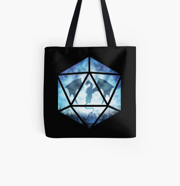Blue Sky Ice Dragon D20 All Over Print Tote Bag