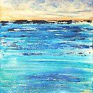 Ocean Dawn Triptych II by Kathie Nichols