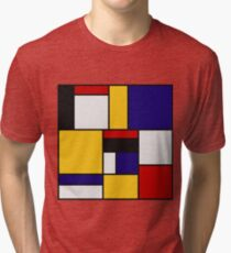 Mondrian De Stijl Art Movement Tri-blend T-Shirt