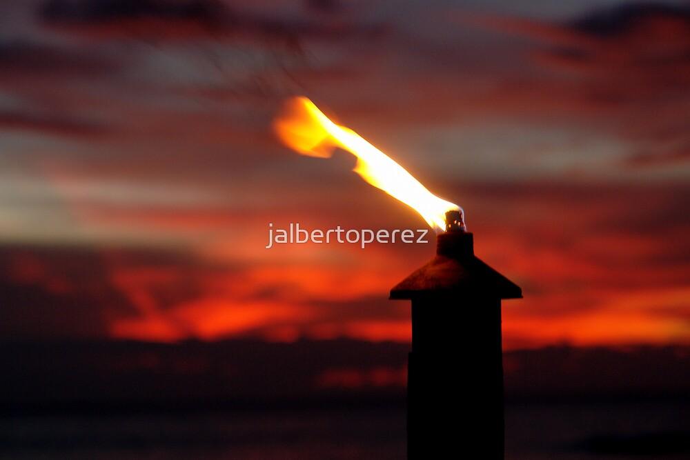 sunset flame by jalbertoperez