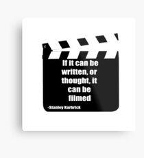 Film quote design  Metal Print