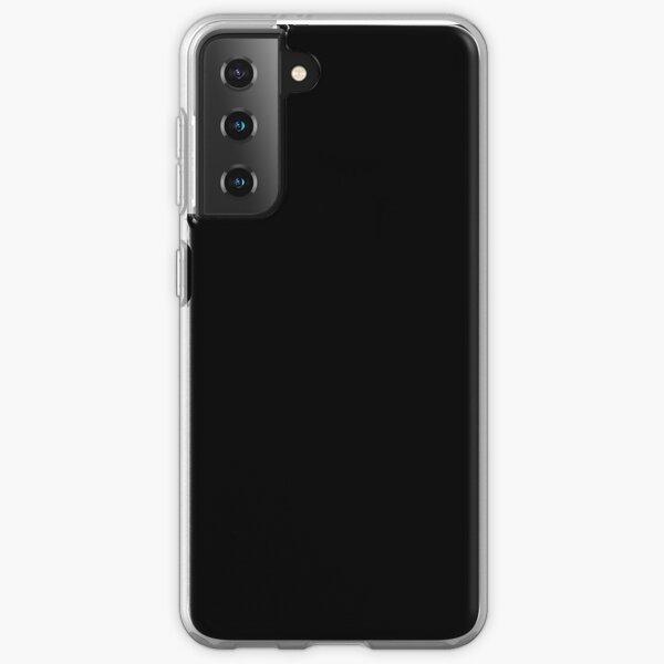 PLAIN BLACK | SOLID BLACK | DARKEST BLACK | MOONLESS SKY | ACCENT BLACK | HIGHEST SELLING BLACK Samsung Galaxy Soft Case