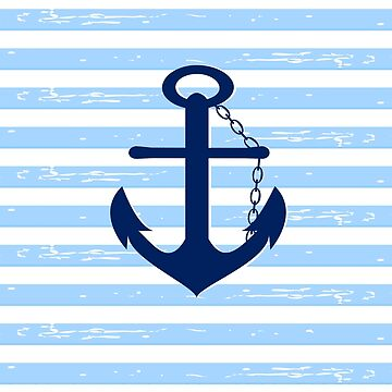 AFE Nautical Blue Ship Anchor by afeimages1