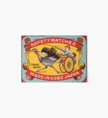 Antique Matchbox Label Ostrich Harness Racing Kobe Japan Art Board