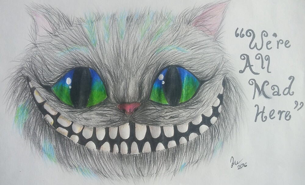 Cheshire cat portrait by Froy0art