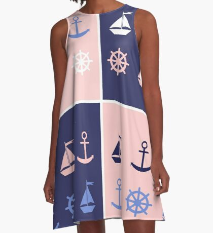 AFE Nautical Elements A-Line Dress