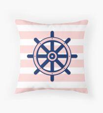 AFE Nautical Ship Wheel  Throw Pillow