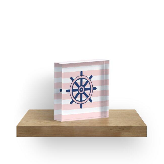 Quot Afe Nautical Ship Wheel Quot Acrylic Blocks By Amalia